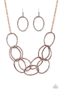 Paparazzi Necklace - Circus Royale - Copper