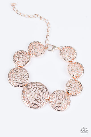 Paparazzi Bracelet - Dream WHIRL - Rose Gold