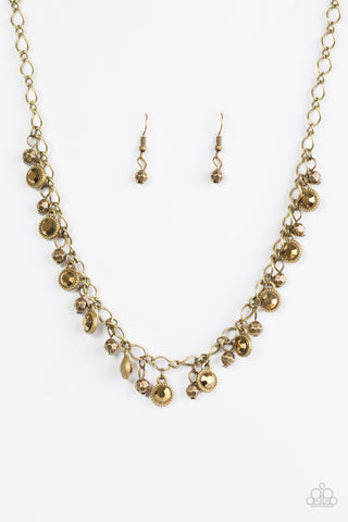 Paparazzi Necklace - City Couture - Brass
