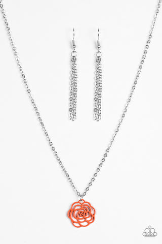 Paparazzi Necklace - Blossom Bliss - Orange