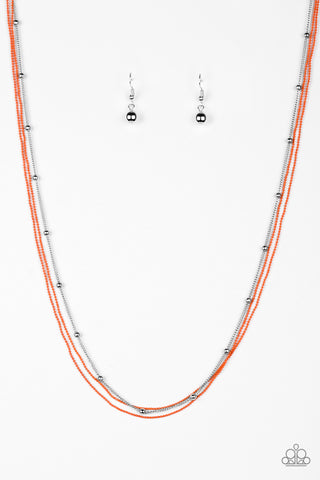 Paparazzi Necklace - Colorfully Chic - Orange