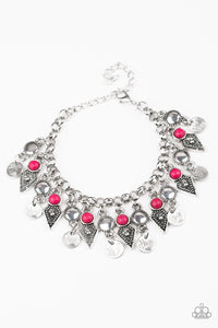 Paparazzi Bracelet - Triassic Trade - Pink