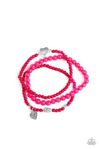 Paparazzi Bracelet - Really Romantic - Pink