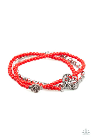 Paparazzi Bracelet - Lover's Loot - Red
