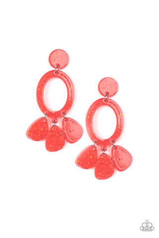 Paparazzi Earring - Sparkling Shores - Orange