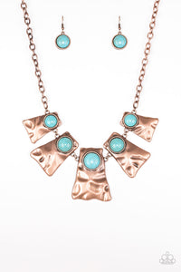 Paparazzi Necklace - Cougar - Copper