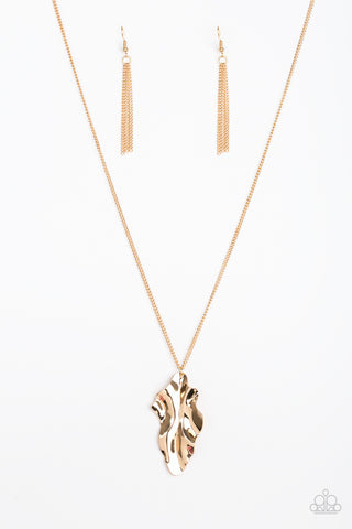 Paparazzi Necklace - Fiercely Fall - Gold