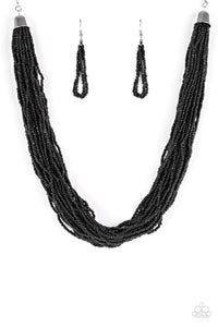 Paparazzi Necklace - The Show Must CONGO On! - Black