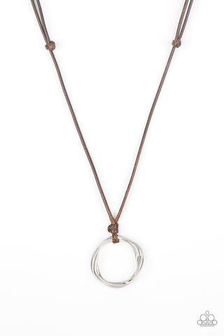 Paparazzi Urban Necklace - Go To Your ROAM! - Brown