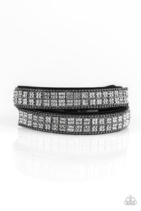 Paparazzi Urban Bracelet - Rock Bank Refinement - Black