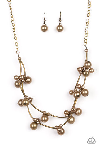 Paparazzi Necklace - Wedding BELLES - Brass