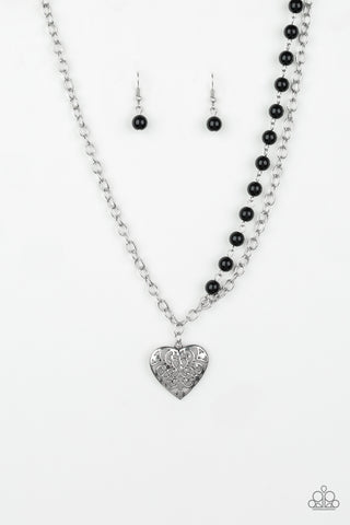 Paparazzi Necklace - Forever In My Heart - Black