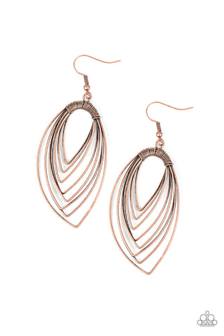 Paparazzi Earring - Walkabout Ware - Copper