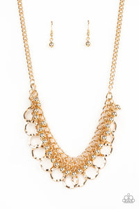 Paparazzi Necklace - Ring Leader Radiance - Gold
