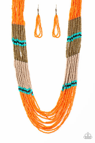 Paparazzi Necklace - Rio Roamer - Orange