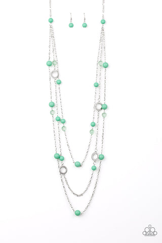 Paparazzi Necklace - Brilliant Bliss - Green