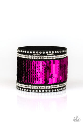 Paparazzi Urban Bracelet - MERMAIDS Have More Fun - Pink