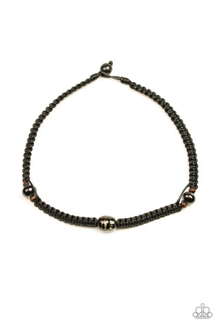 Paparazzi Urban Necklace - Rate Of Climb - Black