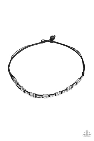 Paparazzi Urban Necklace - Moto Maverick - Black