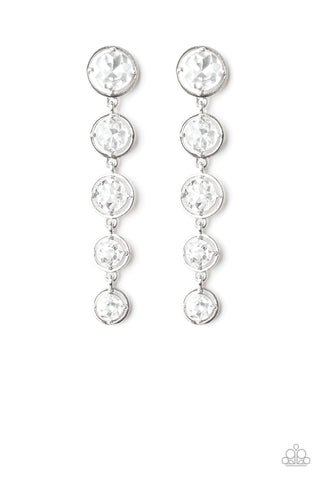 Paparazzi Earring - Drippin' In Starlight - White