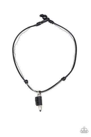 Paparazzi Urban Necklace - Magic Bullet - Black