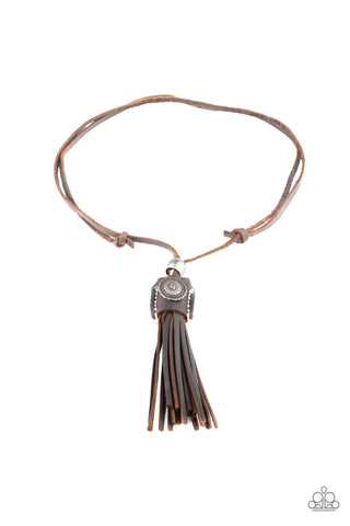 Paparazzi Urban Necklace - Old Town Road - Brown