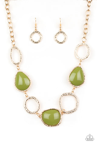 Paparazzi Necklace - Haute Heirloom - Green