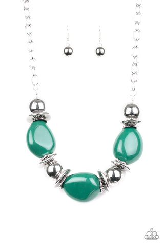 Paparazzi necklace - Vivid Vibes - Green