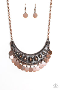 Paparazzi Necklace - CHIME's Up - Copper