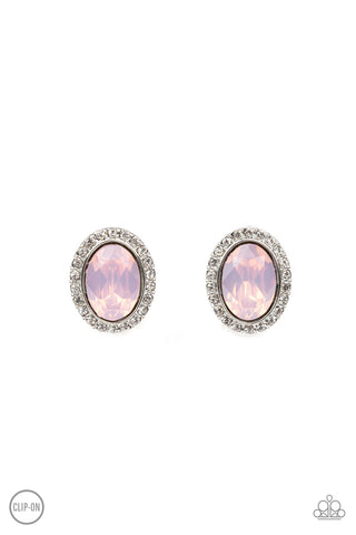 Paparazzi Earring - Have A GLOW At It! - Pink Clip-On