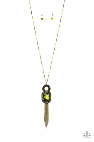 Paparazzi Necklace - A Good TALISMAN Is Hard To Find - Green