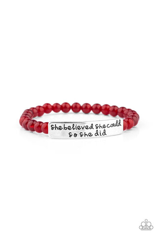 Paparazzi Bracelet - So She Did - Red
