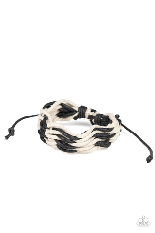 Paparazzi Urban Bracelet - WEAVE High and Dry - Black