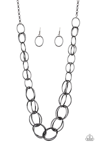 Paparazzi Necklace - Elegantly Ensnared - Black