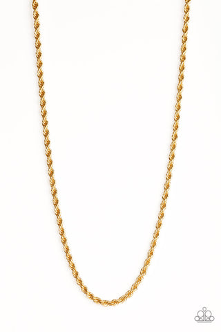 Paparazzi Urban Necklace - Double Dribble - Gold