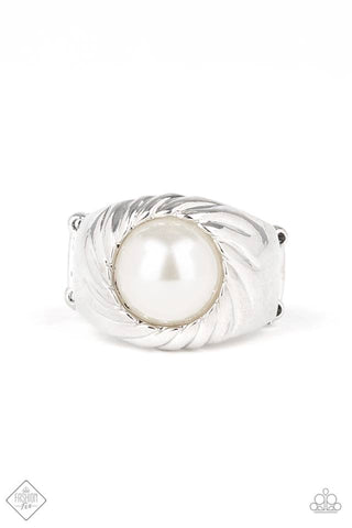 Paparazzi Ring - Wall Street Whimsical - White