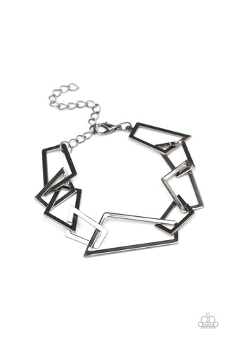 Paparazzi Bracelet - Shattered Shine - Black