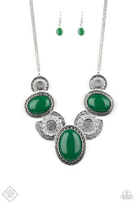 Paparazzi Necklace - The Medallion-aire - Green