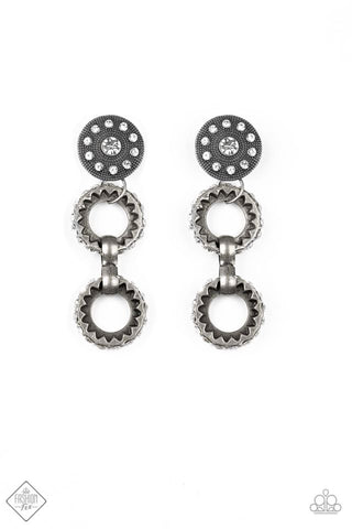 Paparazzi Earring - High Tech - White