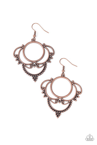 Paparazzi Earring - Metallic Macrame - Copper