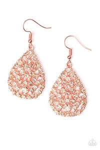 Paparazzi Earring - Sparkle Brighter - Copper