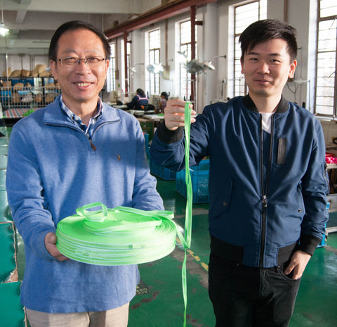 factory owners with Wigzi quality leash webbing