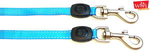 close up rust-proof two dog leash coupler