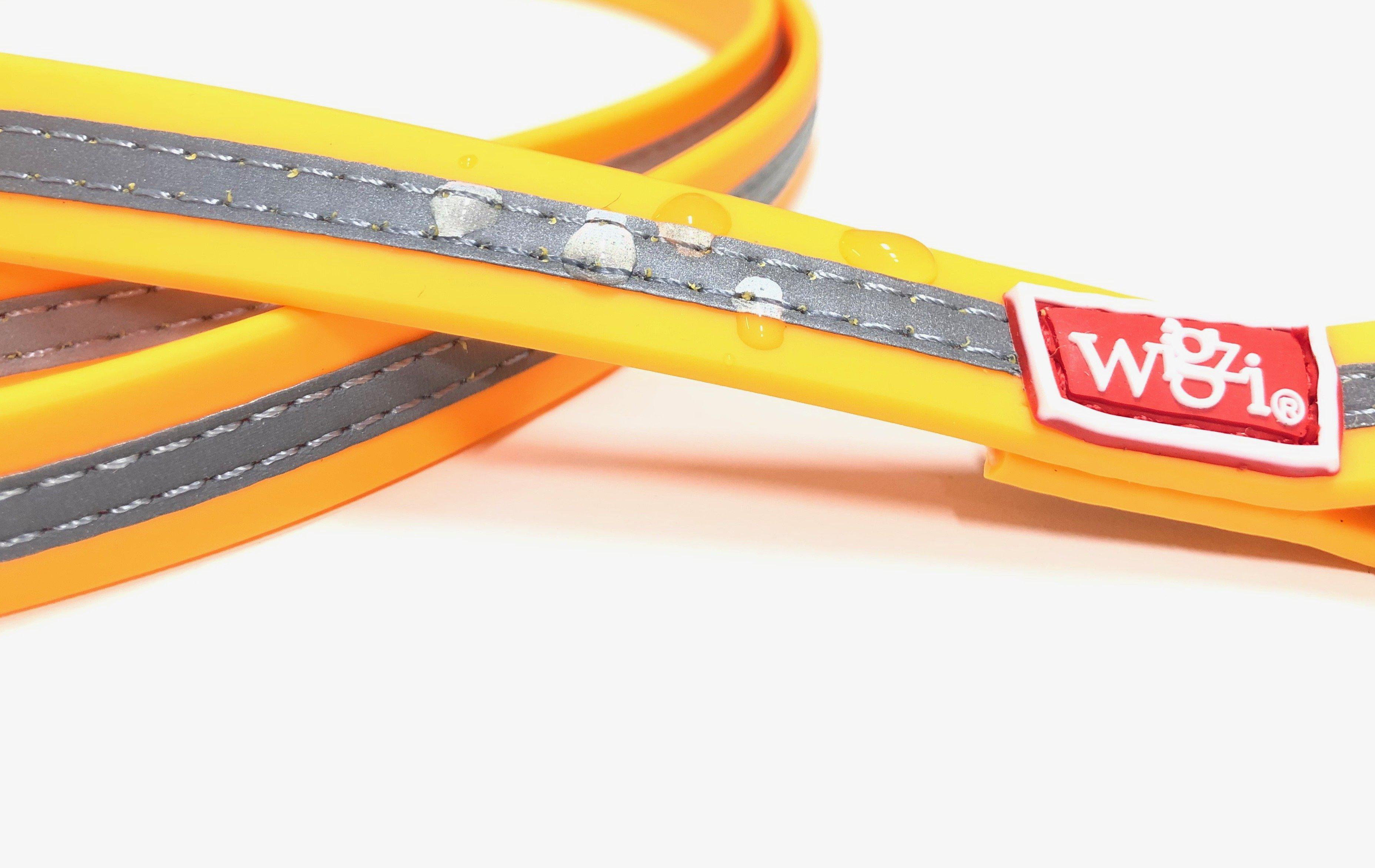 heavy duty waterproof dog leash in yellow