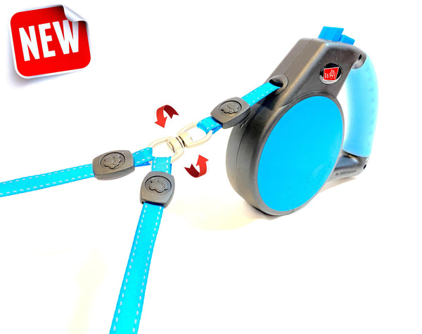 Double Dog Leash Coupler with Gel Handle