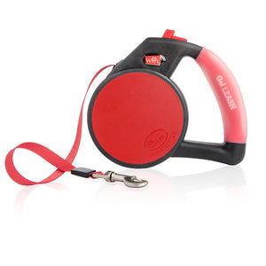 Wigzi Retractable Dog Leash with Gel Handle in Red