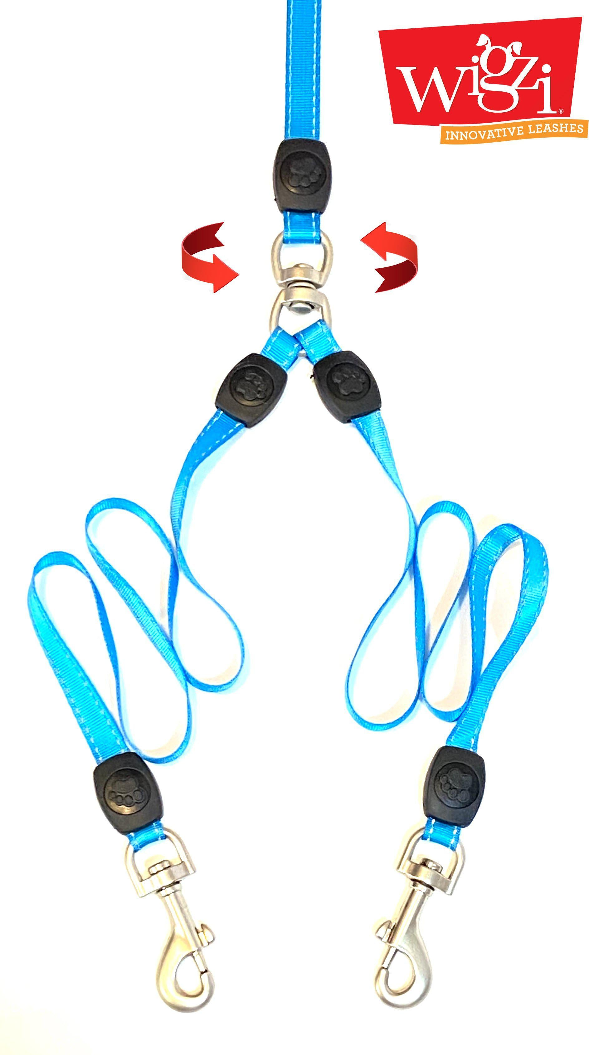 Double Dog Leash Coupler with Gel Handle spins 360 degrees