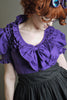 Steampunk Lolita Ruffle Blouse Purple