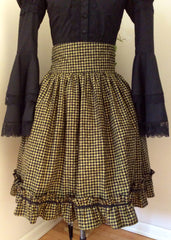 Zeon Kitty Steamgoth Lolita Skirt with Checkers