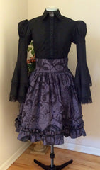 Zeon Kitty Steamgoth Lolita Skirt with Ravens